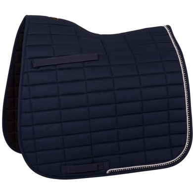 BR Saddlepad Dressage Glamour Chic Blue Full
