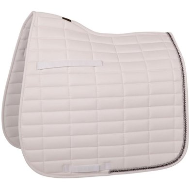 BR Saddlepad Dressage Glamour Chic White