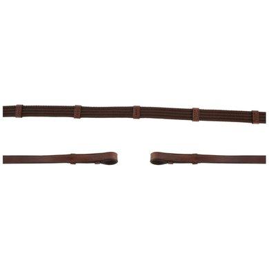 BR Rein Linen 19mm Blind/Round Buckle Oak/Silver Full