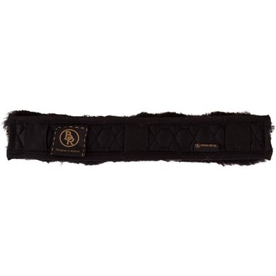 BR Bridle Cover Sheepskin 3cm Wide Black/Black 32cm