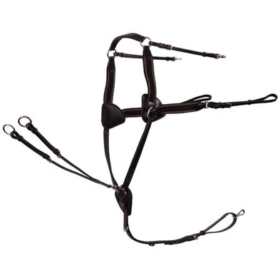 BR Front Harness Leeds 5-point Elastic Black / Silver