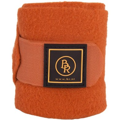BR Bandages/polo Event Fleece 2/4 Luxe Tas Tobacco Pony