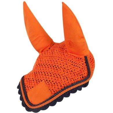 BR Fliegenmütze Event Baumwolle mit Ohren Sunset Orange Pony
