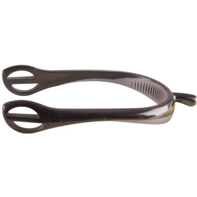 Metallab Spurs Synthetic with Rubber Hook Part Black - Grey