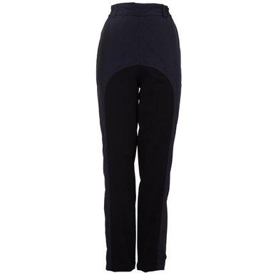 BR Pantalon d'Équitation avec Bande Réfléchissante Noir M