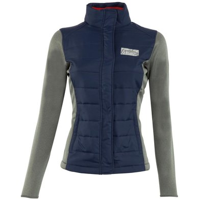 BR Jas Hannah Dames Softshell met Nylon Body Blue Iris S