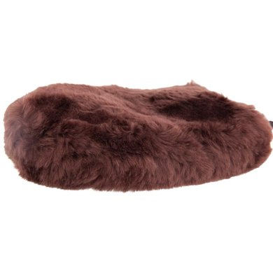 BR Grooming Glove Double sided Sheepskin Brown
