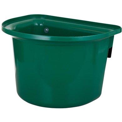 Stubbs Voerbak Plastic Halfrond met Beugels Groen 15L