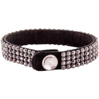 BR Armband Crystallized met Rhinestone Button Zwart