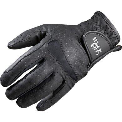 Lag Rijhandschoenen Perforé Zwart XS