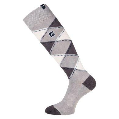 Euro-Star Sokken Geruit Polygiene Grey/Taupe/White L