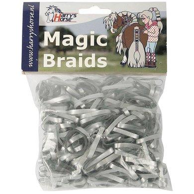 Harrys Horse Einflechtgummis Magic Braids Beutel Silber