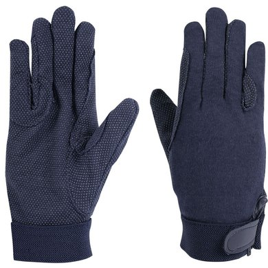 Harrys Horse Cotton Gloves Navy