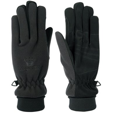 Harrys Horse Fleece Handschoenen Lange Boord Zwart