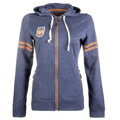 HKM Pro Team Vest Hickstead Donker Blauw/Oranje M