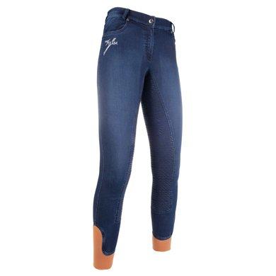 HKM Pro Team Rijbroek Hickstead Siliconen FS Jeans Blauw 134