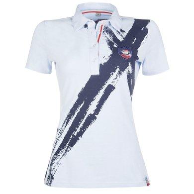 HKM Pro Team Poloshirt County Summer Lichtblauw/navy S