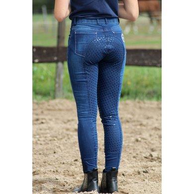 Hoefwijzer Rijbroek Jeansblauw 38