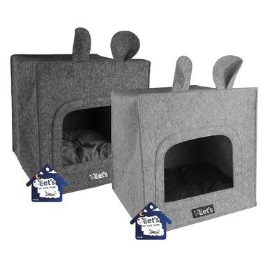 Let's Sleep Pet Cave Chunk Grijs 40x40cm