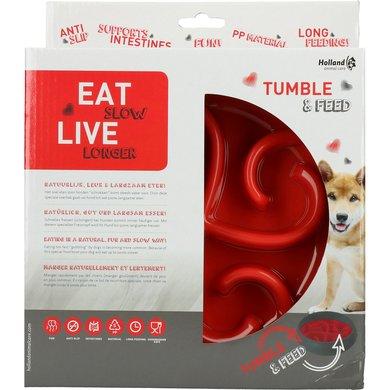 Eat Slow Live Longer Tumble Feeder Red 1 st