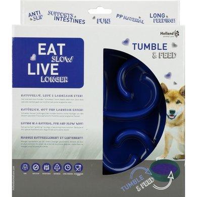 Eat Slow Live Longer Tumble Feeder Blue 1 st