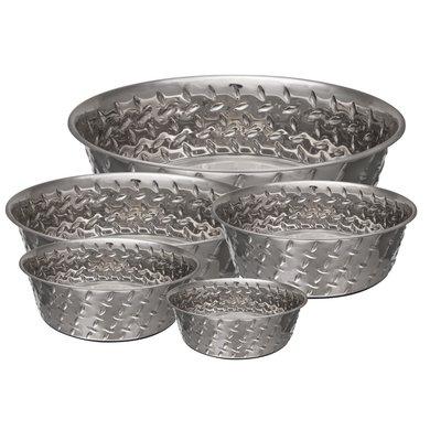 Bella Bowl Diamond Plated Bowl W/ Non-skid Bottom  3,4 Ltr