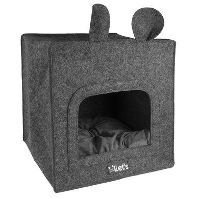 Let's Sleep Pet Cave Chunk Antraciet 40x40cm