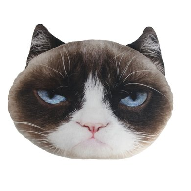 Image of: Realgrumpycat Metro Grumpy Cat Pet Face Pillow 43 41cm