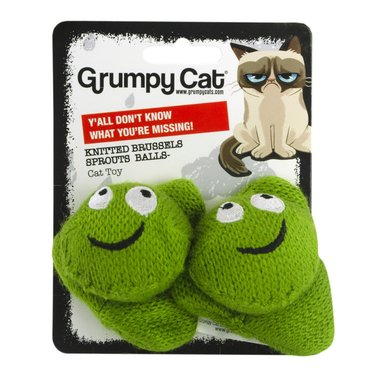 Grumpy Cat Knitted Brussels Sprouts Balls 2-pack 5cm
