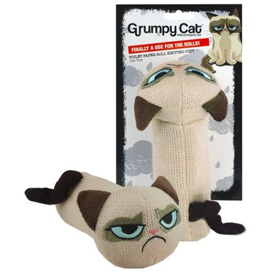 Grumpy Cat Toilet Paper Roll Knitted Cozy 16cm