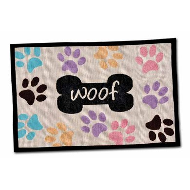 Agradi Woof w/Multi paws Fashion Mat 48 x 31,5cm