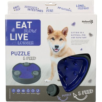 Eat Slow Live Longer Puzzle and Feed Blue 23,5cm