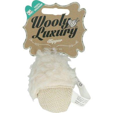 Wooly Luxury Slipper Wit 10cm