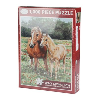 Red Horse Puzzel Moeder en Veulen Horses Mother & Foal