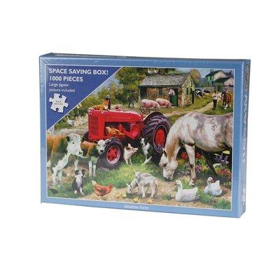 Red Horse Puzzel Boerderijdieren Meadow Farm