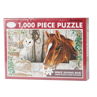 Red Horse Puzzel Paard in Stal The Stable Door