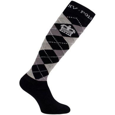 HV Polo Socken Argyle Schwarz 35-38