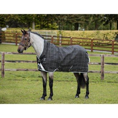 Rhino Pony Wug Turnout Lite Black/Grey/White Check & Gray