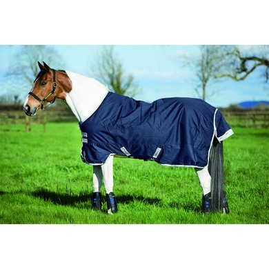 Amigo Pony Bravo 12 Lite Turnout Navy White