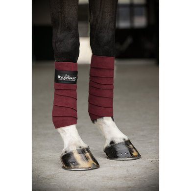 Horseware Fleece Bandages Pomegranate/Black