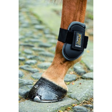 Amigo Tendon Boots Black Charcoal
