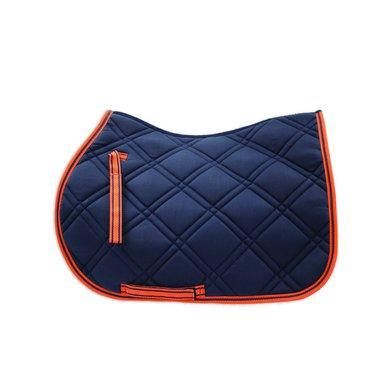 loveson tapis de selle bleu marine orange. Black Bedroom Furniture Sets. Home Design Ideas