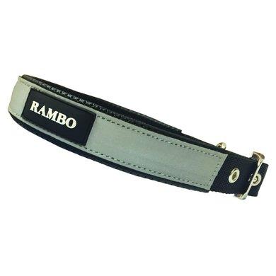 Rambo Dog Collar Black/Reflective