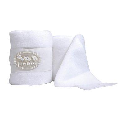 Kavalkade Bandage Set Fleece 4 Stuks Wit 4st