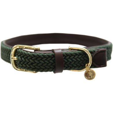 Kentucky Halsband Plaited Nylon Olive Green
