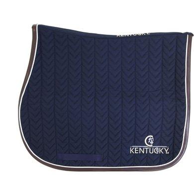 Kentucky Spring Zadeldekje Fishbone Leather Navy Full