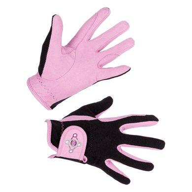 Covalliero Rijhandschoenen Lilli voor Kinderen Zwart/Pink