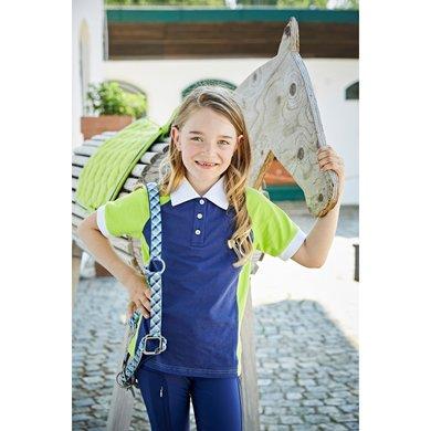 Covalliero Poloshirt Praffo Kids Navy/Lemon 152/158