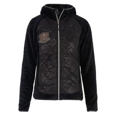 La Valencio Vest Katja Fluffy Black L