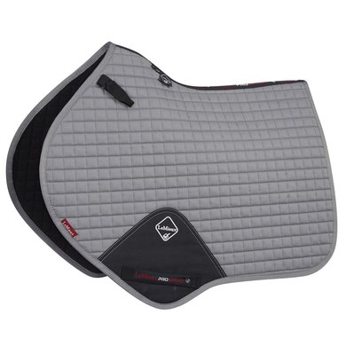LeMieux Jumping Saddle Cloth ProSport Plain CC Square Grey L